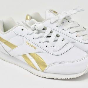 NWOT Rebook Gold & White Sneaker (7Y / 8.5 W)